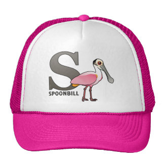S is for Spoonbill Trucker Hat