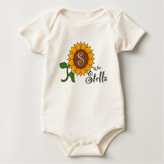 S is for Stella Cute Sunflower T-shirt