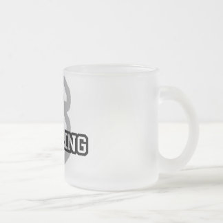 S is for Sterling Frosted Glass Coffee Mug