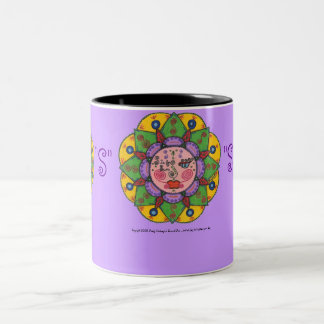 S is for Sun -Black Two Tone mug (lavender)
