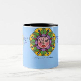 S is for Sun -Black Two Tone mug (light blue)