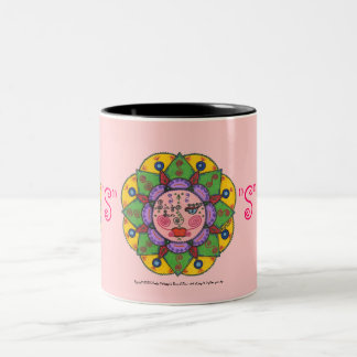 S is for Sun -Black Two Tone mug (pink)