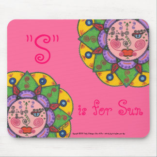 S is for Sun -Mousepad (dark pink) Mouse Pad