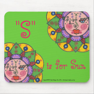 S is for Sun -Mousepad (Green) Mouse Pad