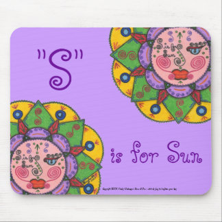 S is for Sun -Mousepad (Lavender)