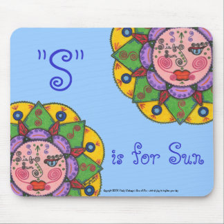 S is for Sun -Mousepad (Light Blue) Mouse Pad