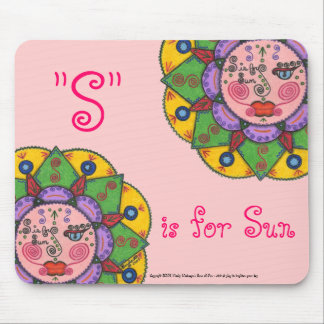 S is for Sun -Mousepad (pink) Mouse Pad