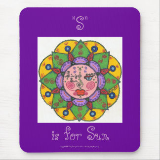 S is for Sun -Mousepad (purple)