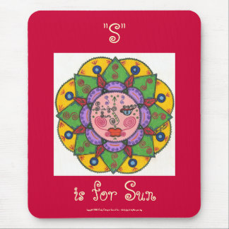 S is for Sun -Mousepad (raspberry) Mouse Pad