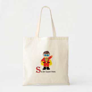 S is for Super Hero Loveable Letters Tote Bag