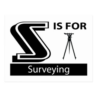 S Is For Surveying Postcard
