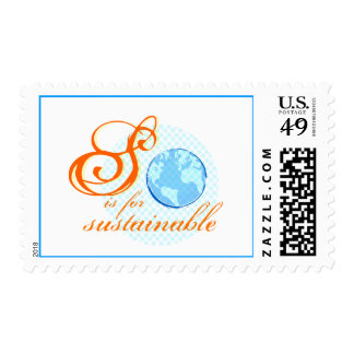 S is For Sustainable Postage Stamps