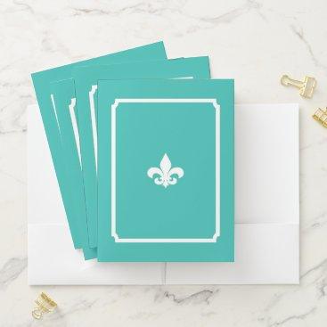 McTiffany Tiffany Aqua S.K. Paris Le Fleur Pocket Folder