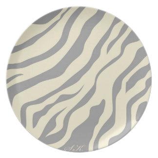 S.K.: Placa de la fiebre de la cebra Plato De Cena