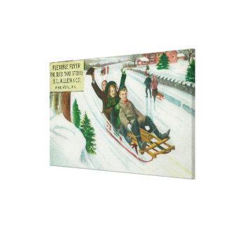 S L Allen & Co Flexible Flyer Sled Gallery Wrap Canvas