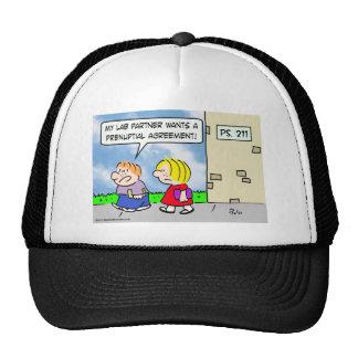 s lab partner wants prenuptial agreement trucker hat