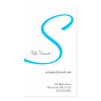 S Letter Alphabet Business Card Blue Rippon