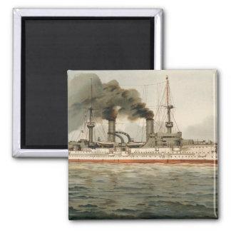 S.M. Grosse Kreuzer 'Furst Bismarck' (H.M. Great C 2 Inch Square Magnet