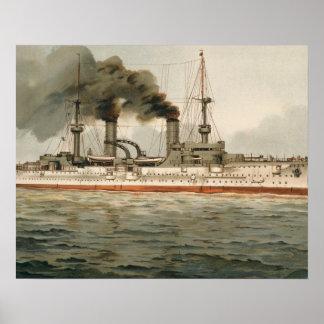 S.M. Grosse Kreuzer 'Furst Bismarck' (H.M. Great C Poster