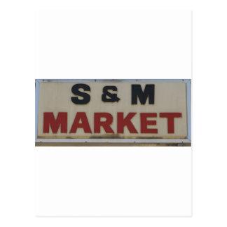 S&M Market Postcard