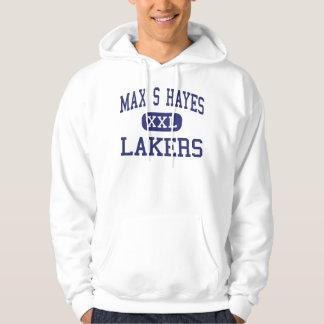 S máximo Hayes - Lakers - de formación profesional Suéter Con Capucha