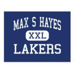 S máximo Hayes - Lakers - de formación profesional Tarjeta Postal