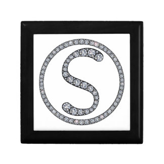 S Monogram bling ring gift box