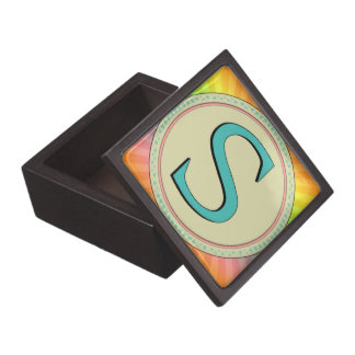 S MONOGRAM LETTER PREMIUM JEWELRY BOX