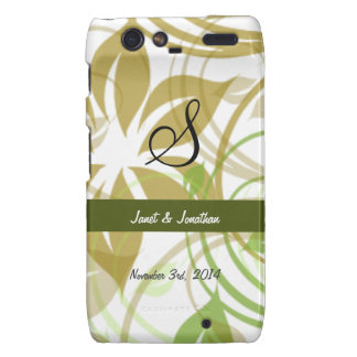 S Monogram with an Abstract Floral Droid RAZR Case