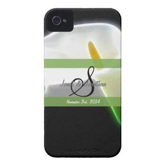 S Monogram with an Elegant Calla Blackberry case