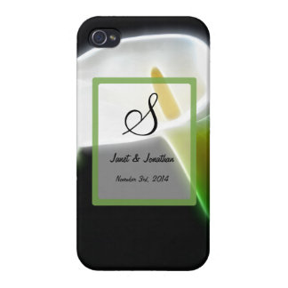 S Monogram with an Elegant Calla Lily iphone case iPhone 4 Covers