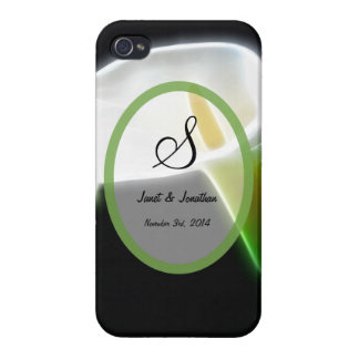 S Monogram with an Elegant Calla Lily iphone case Case For iPhone 4