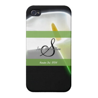 S Monogram with an Elegant Calla Lily iphone case iPhone 4 Cases