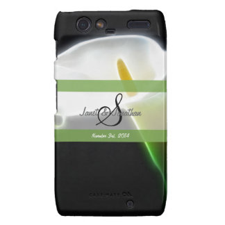 S Monogram with an Elegant Calla Lily Phone Case Droid RAZR Cover