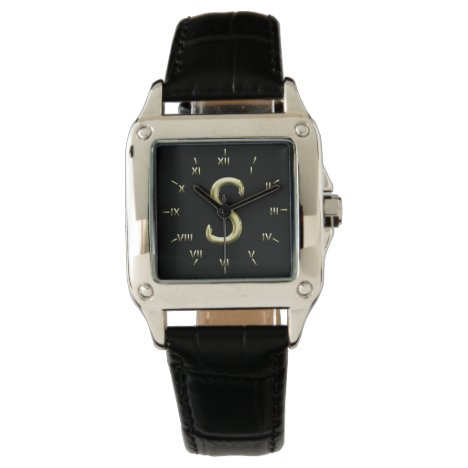 S Monogrammed with Roman Numerals Watch