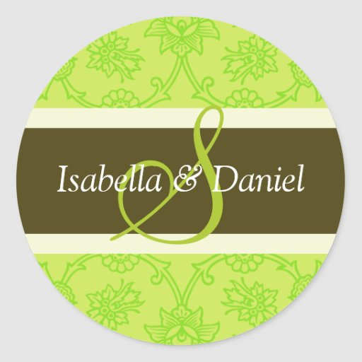 S Monograms For Wedding Invitation Seals Round Stickers