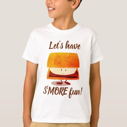 Sâmore fun cartoon character kidâs t_shirt
