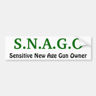 S.N.A.G.O, Sensitive New Age Gun Owner Bumper Sticker