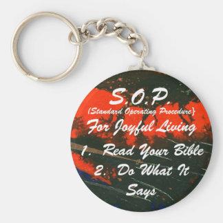 S.O.P. for Joyful Living Keychain