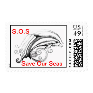 S.O.S Dolphin Postage Stamps