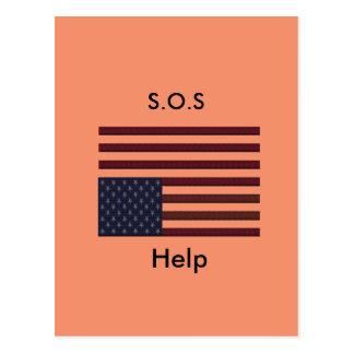 S.O.S Help Postcard