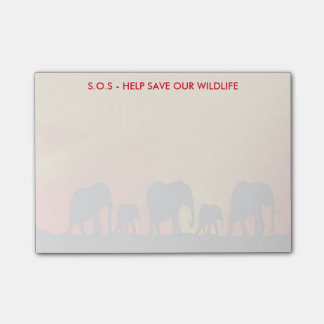 S.O.S Help Save Our Wildlife Post-it® Notes