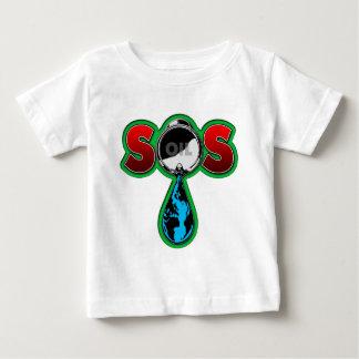 S.O.S. Oil Barrel Earth Baby T-Shirt