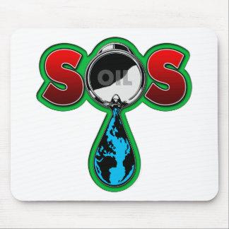 S.O.S. Oil Barrel Earth Mouse Pad