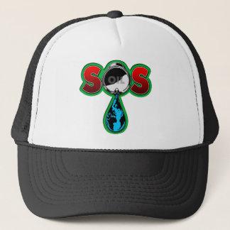 S.O.S. Oil Barrel Earth Trucker Hat