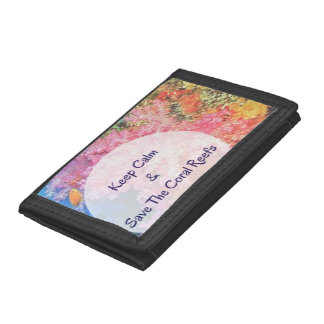 S.O.S ~ Save Our Coral Reefs Trifold Wallet