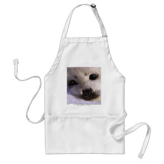 S.O.S. SAVE OUR HARP SEALS ADULT APRON