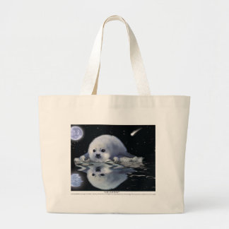 S.O.S. SAVE OUR HARP SEALS TOTE BAGS