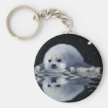 S.O.S. SAVE OUR HARP SEALS KEYCHAINS