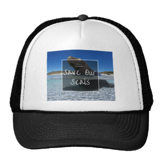 S.O.S ~ Save Our Seals Trucker Hat